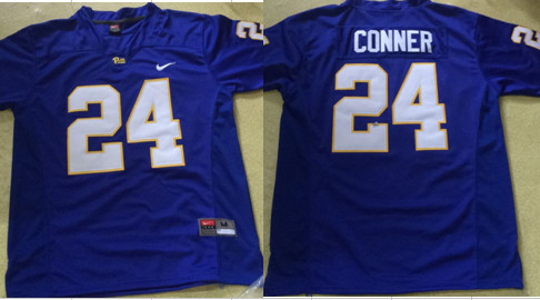 Nike Pitt Panthers #24 Conner ThrowbacK Blue Jersey