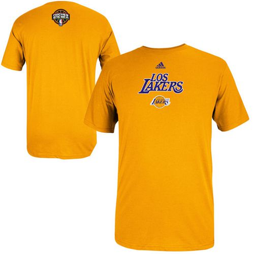 Los Angeles Lakers 2014 Noches Enebea T-Shirt Gold