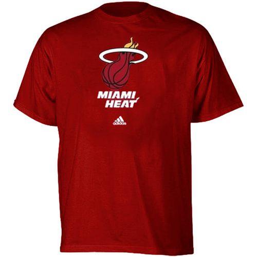 Miami Heat Full Primary Logo T-Shirt Red
