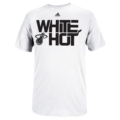 Miami Heat Hot Playoffs Slogan T-Shirt White