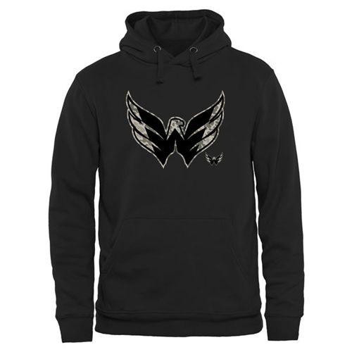 Washington Capitals Black Rink Warrior Pullover Hoodie