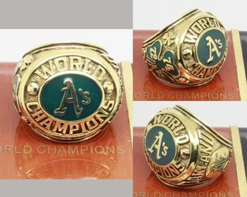 1974 MLB Championship Rings Oakland Athletics World Series Ring