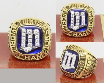 1987 MLB Championship Rings Minnesota Twins World Series Ring