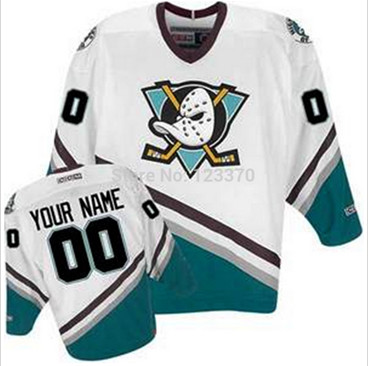 1996-06 Throwback White anaheim mighty ducks Custom NHL jerseys