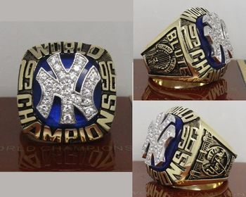 1996 MLB Championship Rings New York Yankees World Series Ring