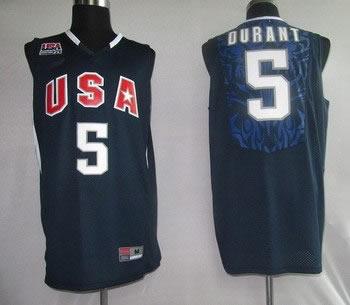 2010 USA Championship 5 Durant Blue Jerseys
