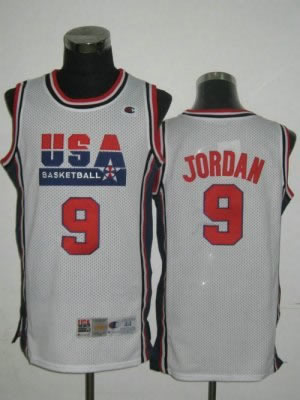 2010 USA Championship Michael 9 Jordan NEW Retro 1992 White Team Jersey