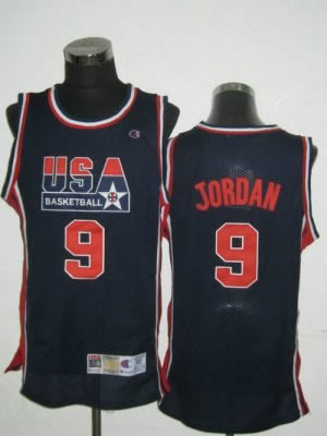 2010 USA ChampionshipMichael 9 Jordan NEW Retro 1992 DK Blue Team Jersey