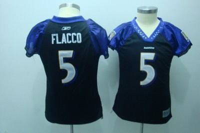 2010 women field flirt fashion jerseys baltimore ravens 5 flacco black