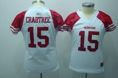 2010 women field flirt fashion jerseys san francisco 49ers 15 crabtree white