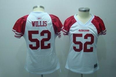 2010 women field flirt fashion jerseys san francisco 49ers 52 willis white