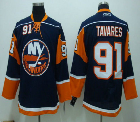 NHL Jerseys Channel Islands #91 TAVARES blue