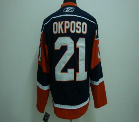NHL Jerseys Channel Islands #21 OKPOSO blue