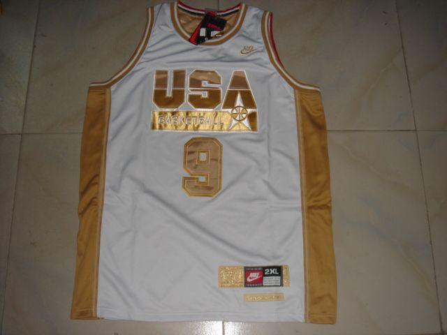 NBA Olympic USA #9 JORDAN WHITE Basketball Jersey