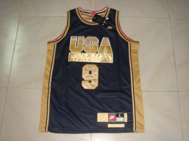 NBA Olympic USA #9 JORDAN BLUE Basketball Jersey