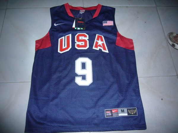 NBA JERSEYS Olympic USA #9 WADE BLUE Basketball Jersey
