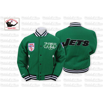 Mitchell & Ness New York Jets Halfback Jacket