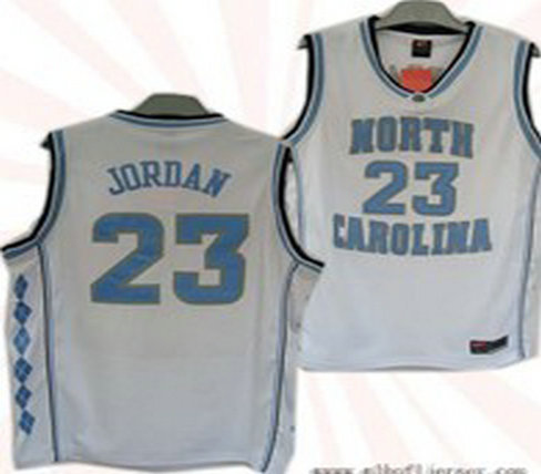 #23 North Carolina Tar Heels Michael Jordan Authentic White Jersey