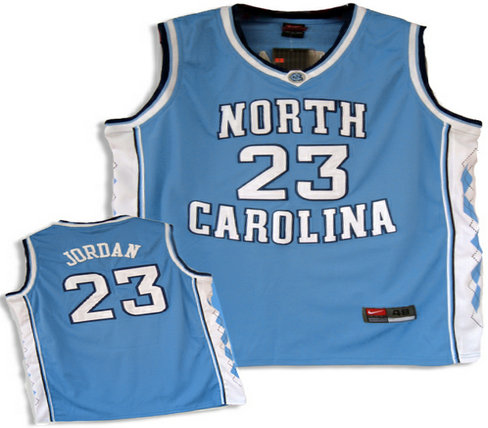North Carolina Tar Heels #23 Michael Jordan Authentic Baby Blue Jersey