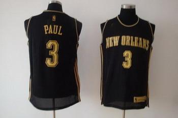 New Orleans Hornets 3 Chris Paul black SWINGMAN jerseys