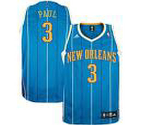 New Orleans Hornets #3 Chris Paul Teal Authentic Jersey