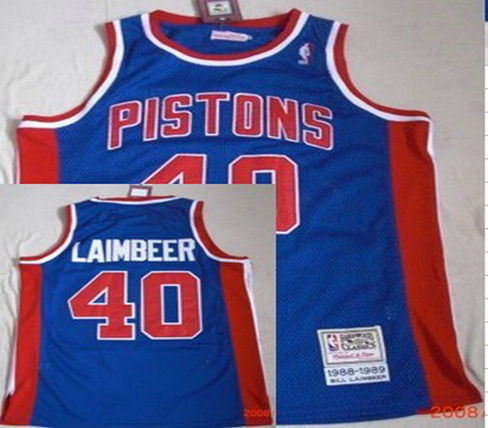 Philadelphia Sixers #40 Laimbeer Blue Throwback Swingman Jersey