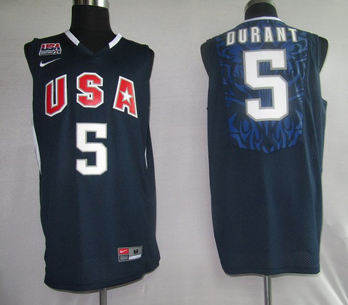 NBA Jersey USA 5# Durant Blue