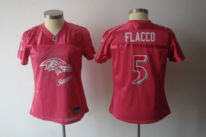 2011 women fem fan baltimore ravens 5 joe flacco red jersey