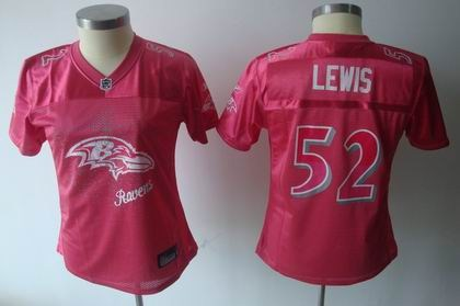 2011 women fem fan batlimore ravens 52 ray lewis red jersey