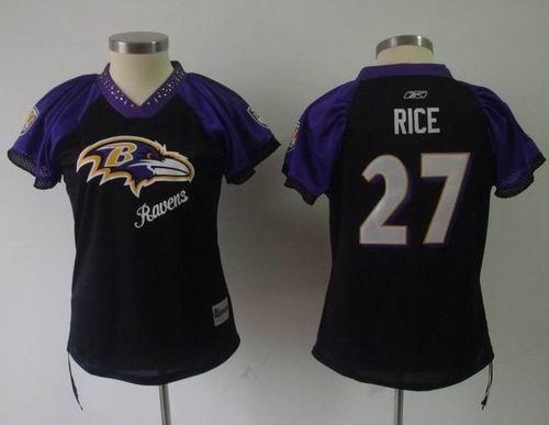2011 women field flirt fashion jersey baltimore ravens 27 ray rice jerseys black