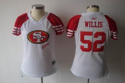 2011 women field flirt fashion jersey san francisco 49ers 52 patrick willis jerseys white