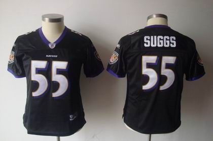 2011 women team jersey baltimore ravens 55 terrell suggs black jerseys