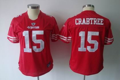 2011 women team jersey san francisco 49ers 15 michael crabtree red jerseys