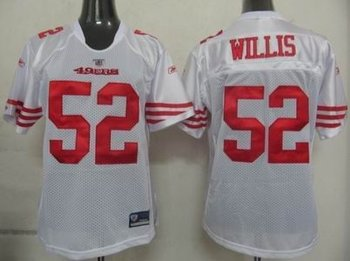 2011 women team jersey san francisco 49ers 52 patrick willis white jerseys