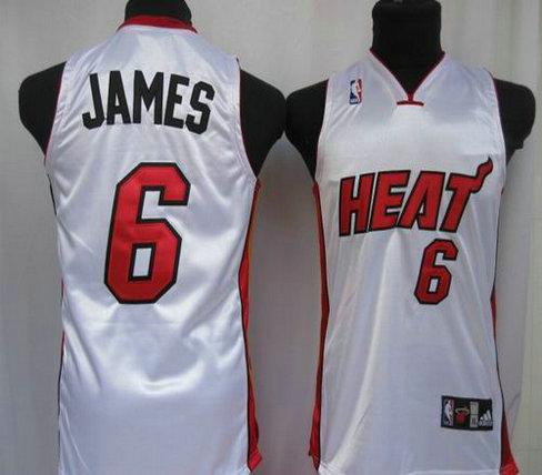 Basketball Kids jerseys Miami Heat 6 James white