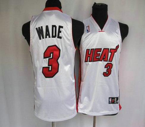 Basketball Kids jerseys Miami Heat 3 Wade white