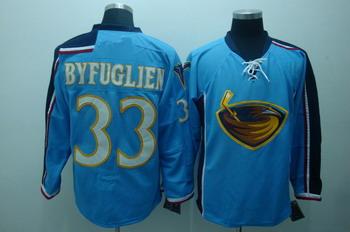 Atlanta Thrashers 33 Byfugien Blue Jerseys