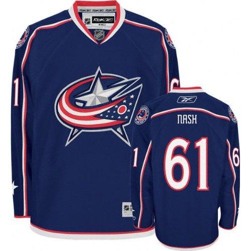 Blue Jackets Rick Nash 61 Columbus Navy Premier NHLPA Jersey