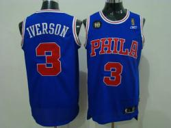 NBA Denver Nuggets #3 Iverson Purple Jerseys swingman