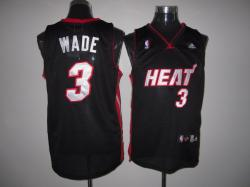 NBA Minmi Heat #3 Dwyane WADE Black Jerseys swingman