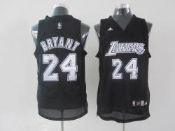 NBA Los Angeless Lakers #24 Bryant Black Jerseys swingman