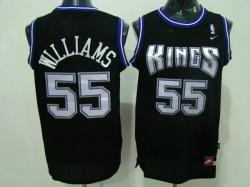 NBA Sacramento Kings #55 Willams Black jerseys swingman