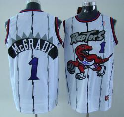 NBA Houston Rockets #1 Mcgrady White Jerseys swingman