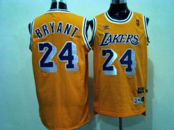 NBA Los Angeless Lakers #8 Bryant Yellow Jerseys swingman