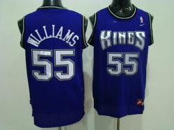 NBA Sacramento Kings #55 Willams Purple jerseys swingman
