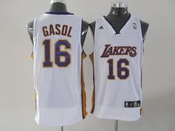 NBA Los Angeless Lakers #16 GASOL White Jerseys swingman