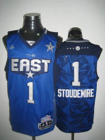 NBA New York Knicks #1 Stoudemire Purple Jerseys SWINGMAN