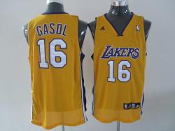 NBA Los Angeless Lakers #16 GASOL Yellow Jerseys swingman