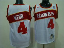 NBA Atlanta Hawks #4 Webb white with red number Jerseys swingman