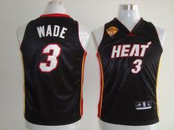 NBA Miami Heat #3 Dwyane WADE KID Black finals jerseys